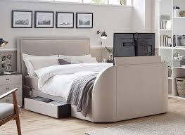 Tv Bed Frames Oatmeal Fabric Tv Sound Bed Frame Tv Bed Frame Tv