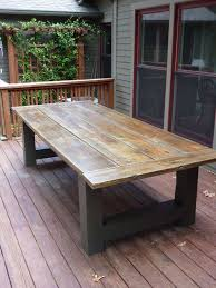 Building A Wooden Desk by Best 25 Outdoor Tables Ideas On Pinterest Farm Style Dining