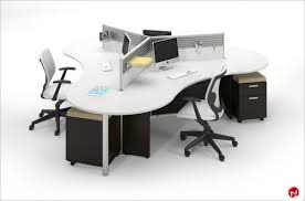 desk for 3 people the office leader milo cluster of 4 person cubicle office desk