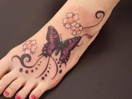 butterfly tattoo design on foot tattooideaszone com