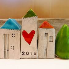 ceramic houses miniature houses from gudar on etsy