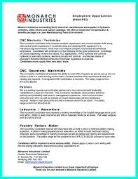 pattern maker resume awesome writing your qualifications in cnc machinist resume a must