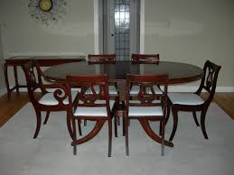 dining room exciting oval dining table with duncan phyfe for