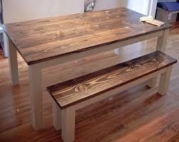 Solid Wood Farmhouse Table Farmhouse Dining Table - Farmhouse kitchen tables