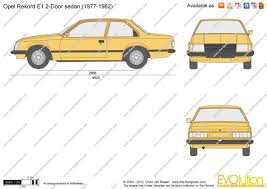 opel rekord 1980 the blueprints com vector drawing opel rekord e1 2 door sedan