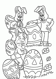 funny easter bunny coloring page for kids holidays coloring pages
