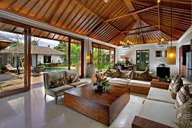 briliant decoration modern wooden house living room interior