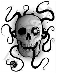 8 ball skull by jkendall on deviantart