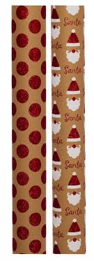 kraft christmas wrapping paper whsmith luxury glittered santa spot kra whsmith