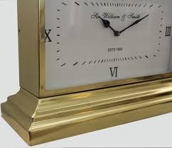 Brass Desk Accessories by Sir William And Smith Brass Gold Desk Handle Clock Eluxury Home
