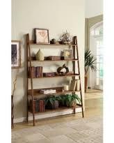 savings on k u0026b furniture antique walnut and metal tiered bookcase
