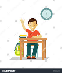Student At Desk by School Children Pupil Student Boy Sit Stock Vector 488972665