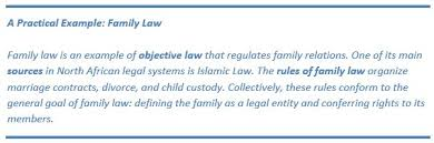 the theory of law and rights in the north african legal system
