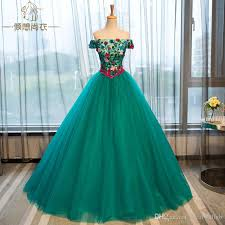 Baroque Halloween Costumes 100 Meadow Green Flowers Baroque Ball Gown Medieval Dress