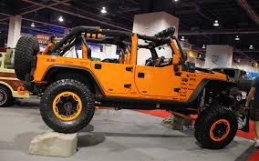 orange jeep jeep wrangler named hottest 4x4 suv at 2012 sema show photo
