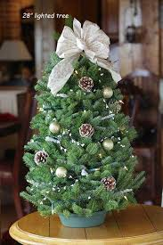 real mini christmas tree with lights live decorated balsam tabletop christmas tree