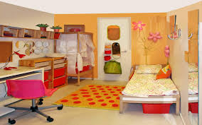 yellow wall paint decorating in beautiful kids room designs with