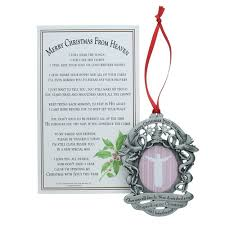 merry christmas from heaven merry christmas from heaven photo ornament the catholic company