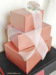 Home Decor Boxes Diy Rose Gold Stacking Boxes