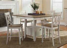 Driftwood Kitchen Table Al Fresco Gathering Table 5 Piece Counter Height Dining Set In