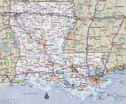 Interstate Map Of United States by Large Detailed Roads And Highways Map Of Louisiana State With All