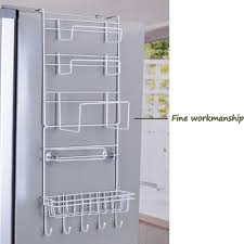 tier multi purpose metal kitchen cabinet refrigerator side easy installation tools needed material metal size package storage rack