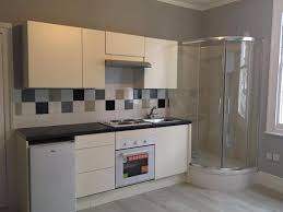 furniture in the kitchen this flat has a shower in the kitchen business insider