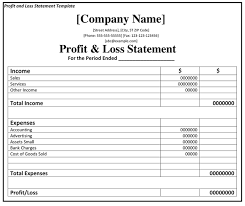 Profit And Loss Excel Template Free Excellent Profit And Loss Forms Statement Free Templates Vlcpeque