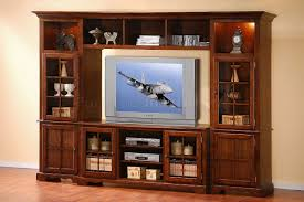 Wall Unit Furniture Merlot Oak Finish Classic Large Wall Unit W Lights In Towers