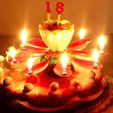amazing happy birthday candle aliexpress buy amazing musical lotus rotating happy