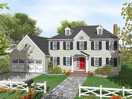 Brick Colonial House Plans by Two Story House Plans With 3 Car Garage Two Story Colonial House
