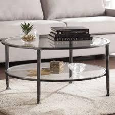 Metal Glass Coffee Table Clear Coffee Tables You U0027ll Love Wayfair