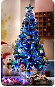 tree with blue decorations rainforest islands ferry