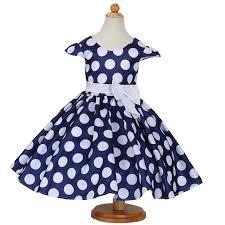 the newest dress girls polka dot dress child wedding dress