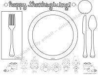 printable thanksgiving coloring placemats happy thanksgiving