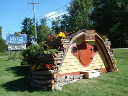 12 u0027 hobbit hole playhouse with two rows of planters for container