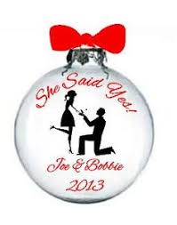 just engaged weddings ornament by paintsykate