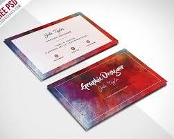 50 free psd business card template designs creative nerds