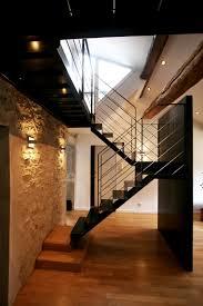 limon d escalier en bois architecture d u0027intérieur duplex à lyon escalier sur limon