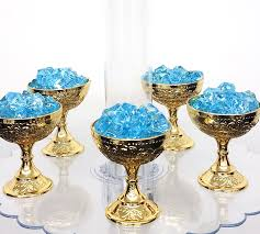 12 small gold favor cups for little prince baby shower