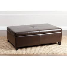 leather ottomans u0026 storage ottomans shop the best deals for oct