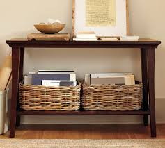 Pottery Barn Sofa Tables by Remodelaholic 25 Ways To Decorate A Console Table