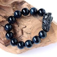 lucky bead bracelet images Natural blue tiger eye beads bracelet feng shui wealth pixiu jpg