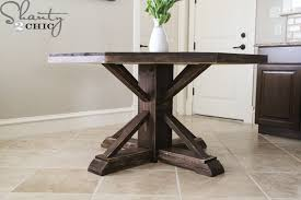How To Build End Table Plans by Diy Round Wooden Table For 110 Shanty 2 Chic
