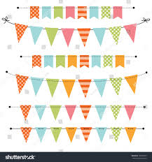 templates for scrapbooking blank banner bunting swag templates scrapbooking stock vector