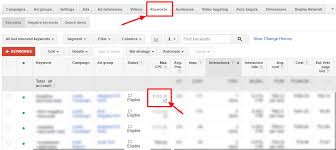 keyword bid adwords position bid karooya