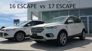 ford escape 2016 interior 2016 ford escape vs 2017 escape comparison u0026 walk around youtube