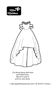 prom paper doll coloring pages