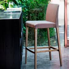 Chas Armchair Contemporary Bar Chair Upholstered Fabric Wooden Zoe 1122