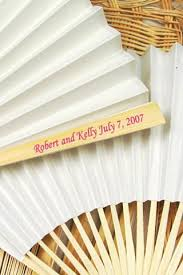 personalized fans for weddings personalized fans for summer weddings your wedding program